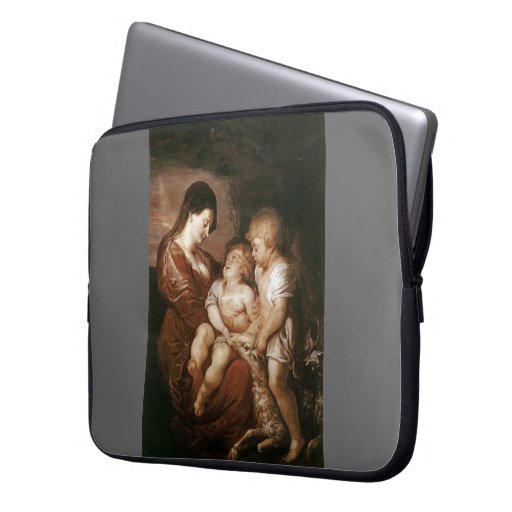 Virgin & Child with Infant St.John by Peter Rubens Laptop Sleeve