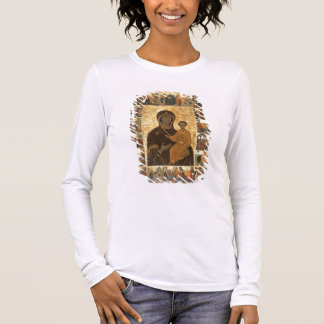 Virgin Hodegetria Icon of Smolensk, c.1450 (temper Long Sleeve T-Shirt
