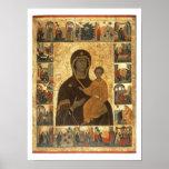 Virgin Hodegetria Icon of Smolensk, c.1450 (temper Poster