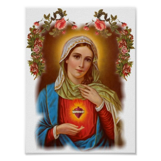 Virgin holy mother Mary, saint mary,vintage Poster