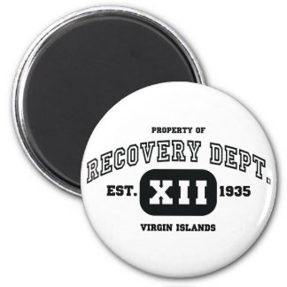 VIRGIN ISLANDS Recovery 6 Cm Round Magnet