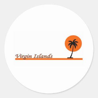 Virgin Islands Round Stickers