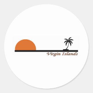 Virgin Islands Round Sticker
