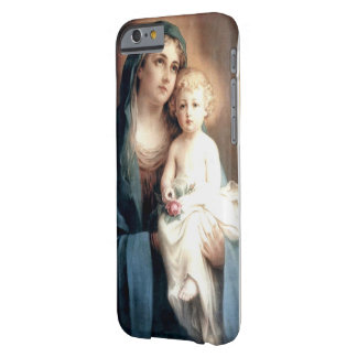 Virgin Madonna Mary with Christ Child Jesus Rose Barely There iPhone 6 Case