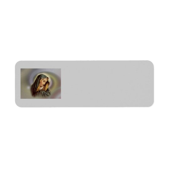 Virgin Mary 2 Avery Label