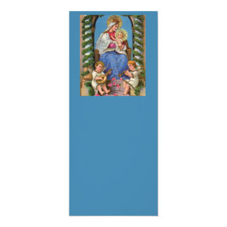 Virgin Mary and Baby Jesus 10 Cm X 24 Cm Invitation Card