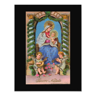 Virgin Mary and Baby Jesus 11 Cm X 14 Cm Invitation Card