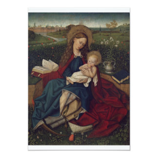 Virgin Mary and Baby Jesus 13 Cm X 18 Cm Invitation Card