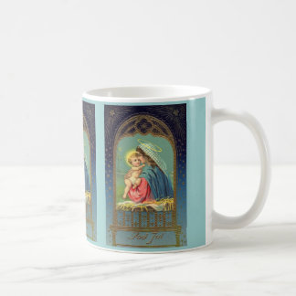 Virgin Mary and Baby Jesus Antique Style Mug