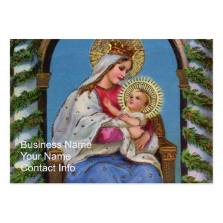 Virgin Mary and Baby Jesus Business Card Templates