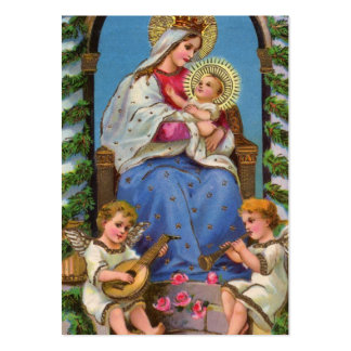 Virgin Mary and Baby Jesus Business Card Template