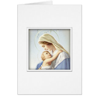 Virgin Mary and Baby Jesus Card