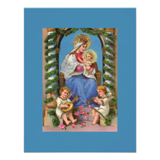 Virgin Mary and Baby Jesus Invite
