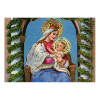 Virgin Mary and Baby Jesus Pack Of Chubby Business Cards
