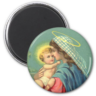 Virgin Mary and Baby Jesus | Religious Christian Magnet