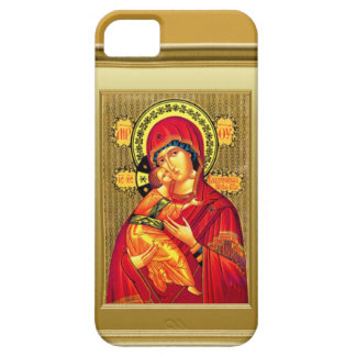 Virgin Mary and child Jesus in red clothes iPhone 5 Case