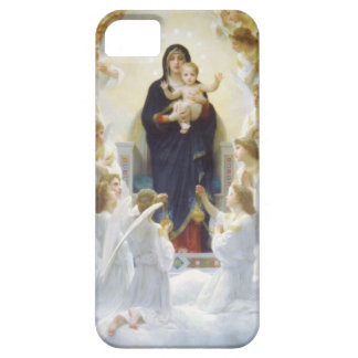 Virgin Mary and Jesus with angels Barely There iPhone 5 Case