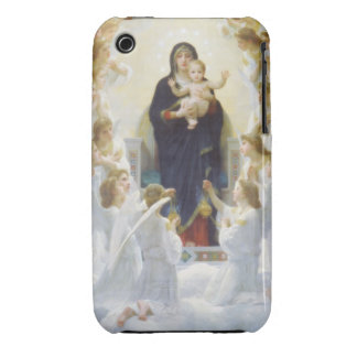 Virgin Mary and Jesus with angels iPhone 3 Case-Mate Case