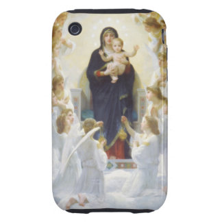 Virgin Mary and Jesus with angels iPhone 3 Tough Cover