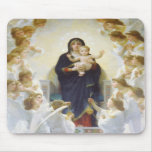 Virgin Mary and Jesus with angels Mousepads