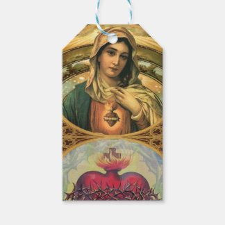 Virgin Mary and the Sacred Heart of Jesus Gift Tags