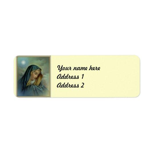 Virgin Mary Assumption Return Address Label