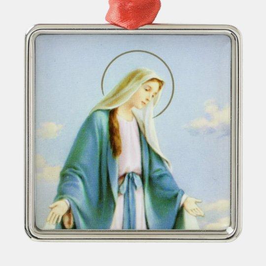 Virgin Mary Crescent Moon Ornament