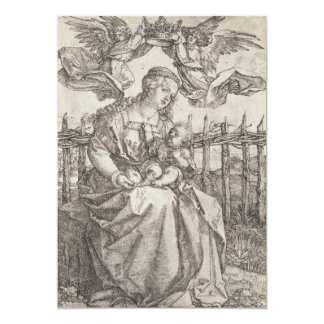 Virgin Mary Crowned by Two Angels by Durer Custom Announcements