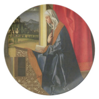 Virgin Mary, from The Annunciation diptych (oil on Plates