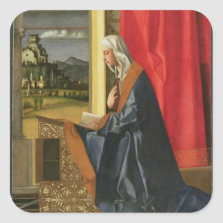 Virgin Mary, from The Annunciation diptych (oil on Square Stickers