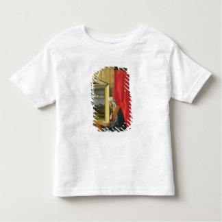 Virgin Mary, from The Annunciation diptych (oil on T-shirts