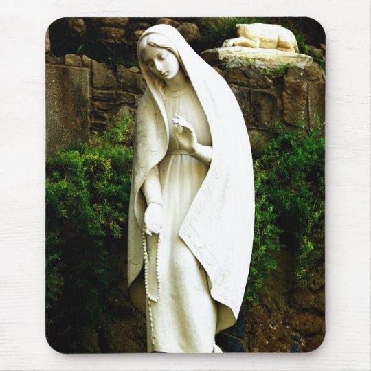 Virgin Mary Garden Statue Mouse Mat