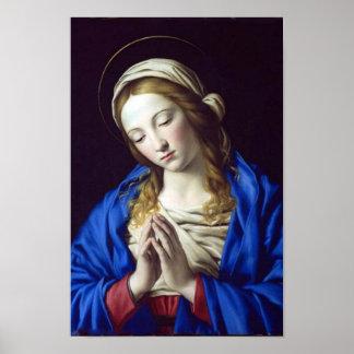 Virgin Mary in Prayer poster