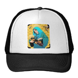 Virgin Mary Madonna & Bumble Bee Cap