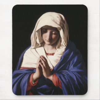 Virgin Mary Mouse Pads