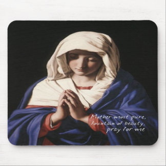 Virgin Mary Mousepad with prayer