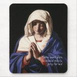 Virgin Mary Mousepad with prayer
