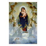 Virgin Mary of The Angels & Baby Jesus Our Lady Poster