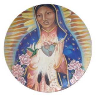 Virgin Mary - Our Lady Of Guadalupe Party Plates