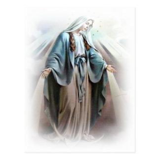 Virgin mary postcard
