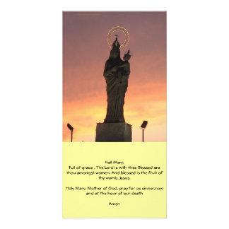 Virgin Mary Prayer Custom Photo Card