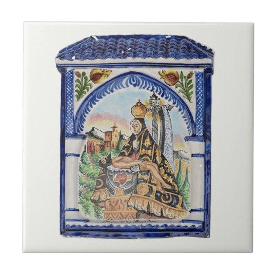 Virgin Mary tile