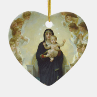 Virgin Mary with Baby Jesus and Angels Christmas Ornament