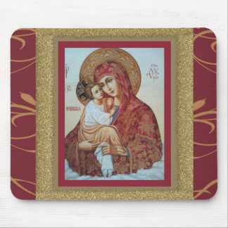 Virgin Mary with Christ Child Mousepad ICON
