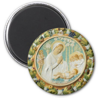 Virgin Mary with Jesus Magnet