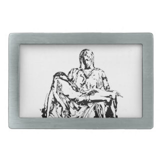 Virgin Mother Mary and Jesus Rectangular Belt Buckles