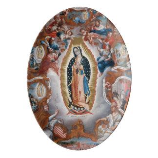 """Virgin of Guadalupe"" art porcelain platter"