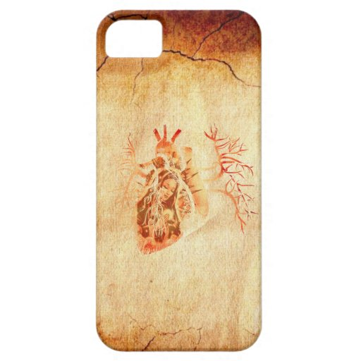 Virgin of Guadalupe in Real heart iPhone 5 Case