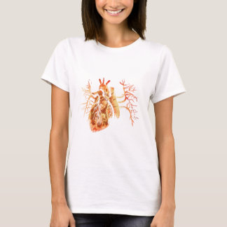 Virgin of Guadalupe in Real heart T-Shirt
