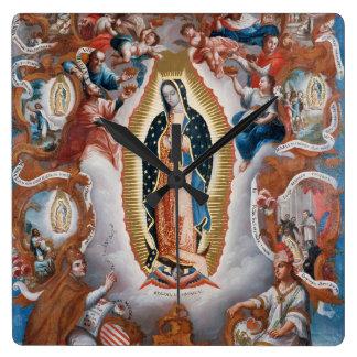 """Virgin of Guadalupe"" wall clocks"